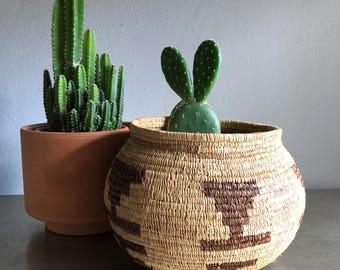 vintage basket planter southwestern boho decor