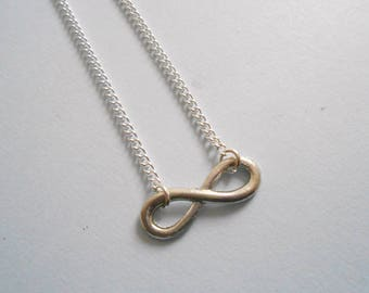 infinity necklace - infinity silver necklace- infinity pendant - infinity charm- infinity jewelry - infinity symbol