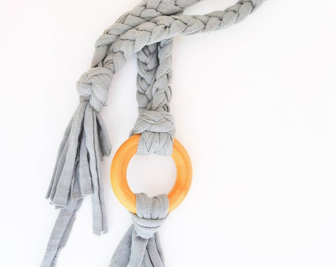 Grey Tug & Pull Teething Tassel Necklace | Gray Teething Necklace | Shades of Grey Tassel Necklace