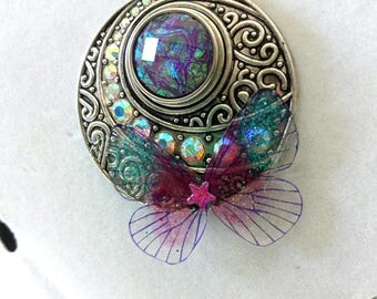 Necklace magical fairy elven Butterfly dragon eye