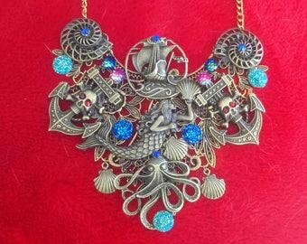 Piracy bib necklace