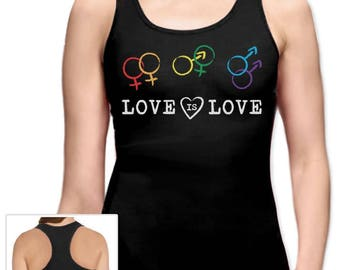 Love Is Love - Equal Rights Gay & Lesbian Marriage Racerback Tank Top