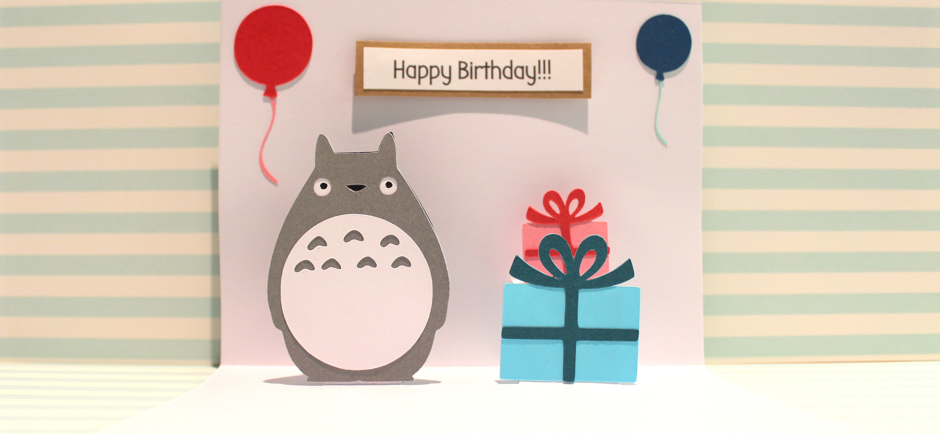 Totoro Card Pop Up Card Totoro Birthday Card – Totoro Birthday Card