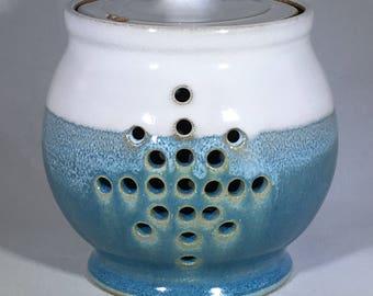 Garlic Keeper, Garlic Jar, Lidded Jar