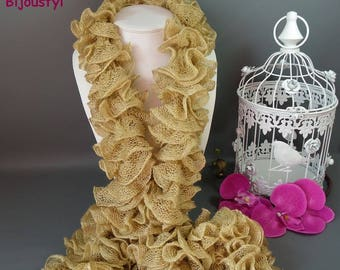 Scarf CAN CAN with glitter gold fancy * 100 g * length 160 cm