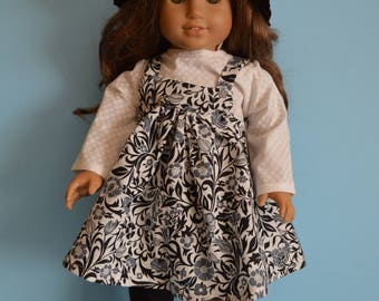 18 Inch Doll Outfit- 4-Piece Sun Dress/Leggings/Shirt/Hat Flowered Outfit