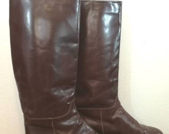 Size 9.5 Vintage Charles David Italian Riding Boots / Equestrian Boots
