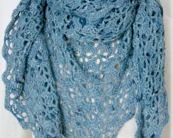 Châle Alpaga France Bleu de lectoure