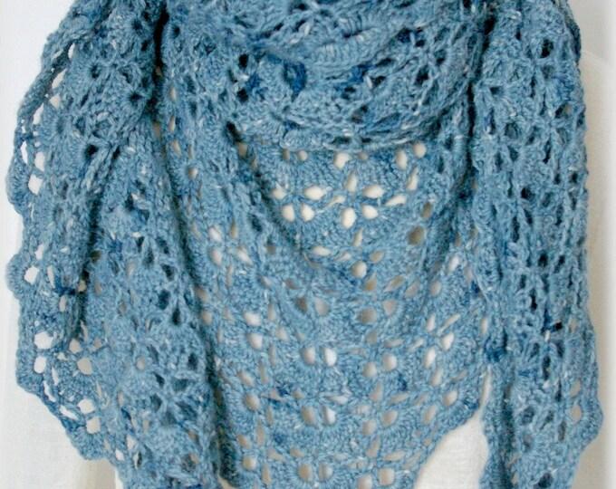 Featured listing image: Châle Alpaga France Bleu de lectoure