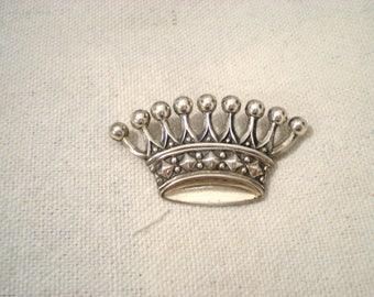 Sterling Silver Crown Tiara Pin Brooch Beauty. Elegant. Queen. Princess