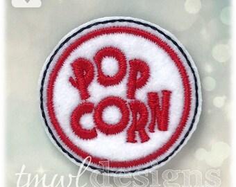 """Popcorn Sign Feltie Digital Design File - 1.75"""""""