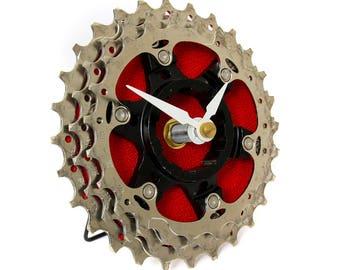 Bicycle Cog Clock - Bike Desk Clock - Eco Friendly - Bike Gear Clock - Bicycle Clock - Industrial Clock - bike accessories