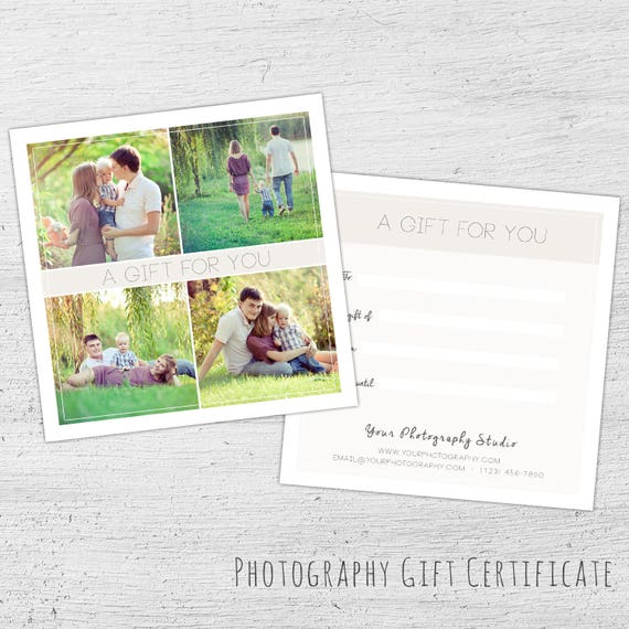 Photography Gift Certificate Spring Photoshop Template