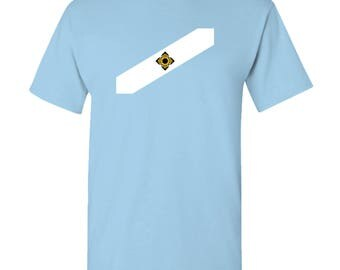 Madison City Flag T Shirt - Sky Blue