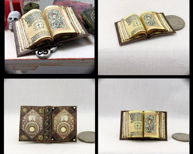 Open Book CODEX OF PARANOR Magic Book Miniature Dollhouse 1:12 Scale Color Illustrated Pages Wizard Witch Fortune Teller Gypsy Potter