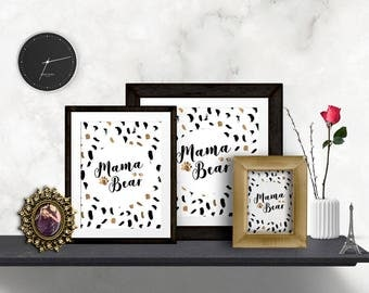 Mama Bear | Mama Bear Decor | Mama Bear Art | Mama Bear Printable | Mama Bear Print | Mama Bear Gift | Instant Download | Printable PDF