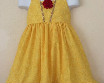 Girls princess  Belle halter dress 3T