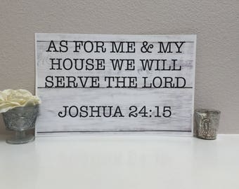 11x17 READY TO SHIP!-As for me and my house we will serve the Lord, Joshua, home decor, print, gift, new home, housewarming, family,
