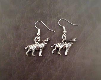 Wolf Earrings, Werewolf earrings, animal earrings, wolf jewelry, werewolf jewellery, goth earrings, Wolves earrings, alternative jewelry