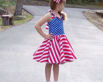 Forth of July , Forth of July dress ,4th of July Dress , Patriotic dress red white and blue dress,Forth of July outfit ,Patriotic outfit