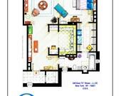 Apartamento de plano de Carrie Bradshaw de S & TC - versión cartel