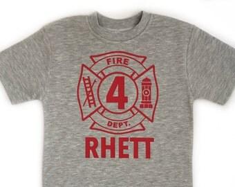 Firetruck birthday shirt, firetruck birthday party, firetruck birthday, boys birthday shirt, boys firetruck shirt for birthday