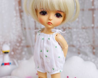 "Lati Yellow/Pukifee - ""Cloudy Milk"" Romper/Jumpsuit - WhiteFloral"
