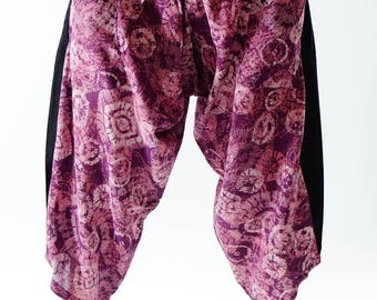 HC0139 Samurai Pants  - elastic waistband and cuffs - Fits all!  Unisex pants