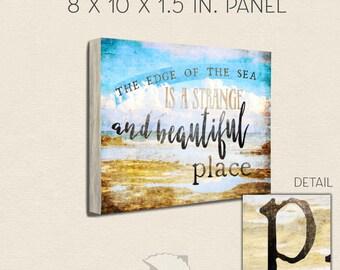 Coastal sign, 8x10, graphic design, wood sign, beach sign, coastal decor, beach house decor, rustic decor, beach farmhouse, home decor