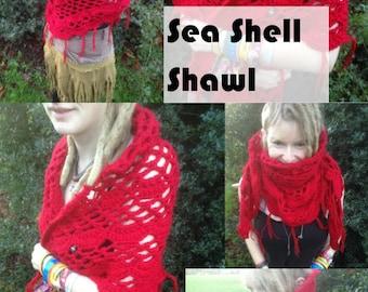 Sea Shells Shawl Crochet Pattern