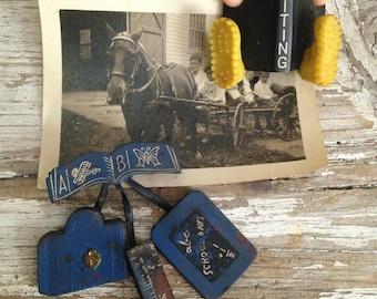 1940's vintage brooches,Leather brooch,Teacher's awards,school days, Bakelite pin, vintage jewelry,school teacher collection,teacher's gift