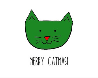 Merry Catmas, A6 card