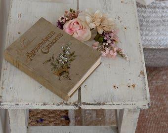 Beautiful Antique Book of Poems / Shabby Boho