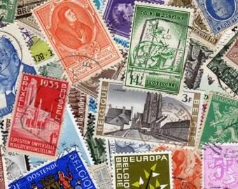 Belgium Stamps, 50 Diff, Belgium Postage Stamps, Stamp Collection,Stamps, Postage Stamps, Stamps, Postage Stamps