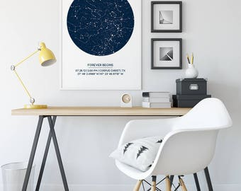 Custom Star Map Poster, Unframed, New Baby Gift, First Anniversary Gift, Wedding Gift, Star Print, Mother's Day Gift, Wedding Gift