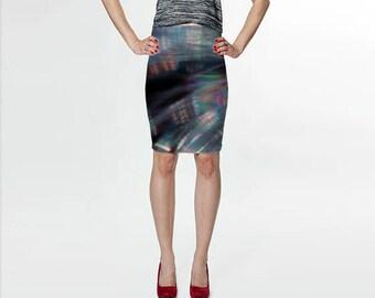 Fitted Skirt, Pencil Skirt, Skater Skirt, Teen Clothing, Abstract Skirt, Reversible Skirt, Black Skirt, Spandex Mini Skirt, Wispy Skirt