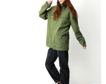 Military Jacket / Khaki Army Jacket /Olive Green Jacket / Vintage Military Coat /  Size M