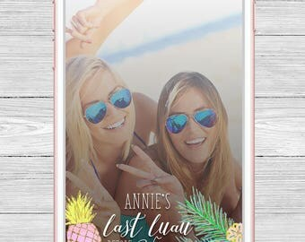 Tropical Bachelorette Party Snapchat Geofilter - Beach Filter - Last Luau Before the Vows