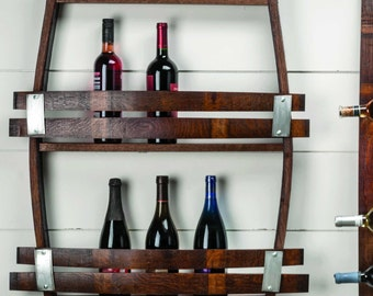 Wine Barrel wine rack 12-14  wine bottles! made from reclaimed wood wine barrels