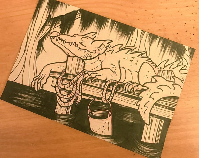 Cryptid Inktober 2017 Illustration - Dogigator