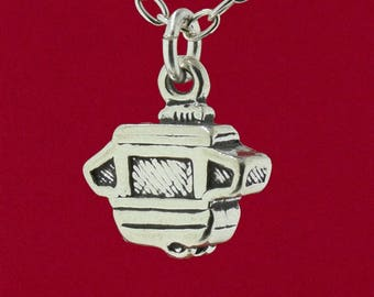 Pop Up Camper Travel Trailer RV 2 Sided 3D Pendant 925 Sterling Silver Jewelry Detailed Design - Charm Only