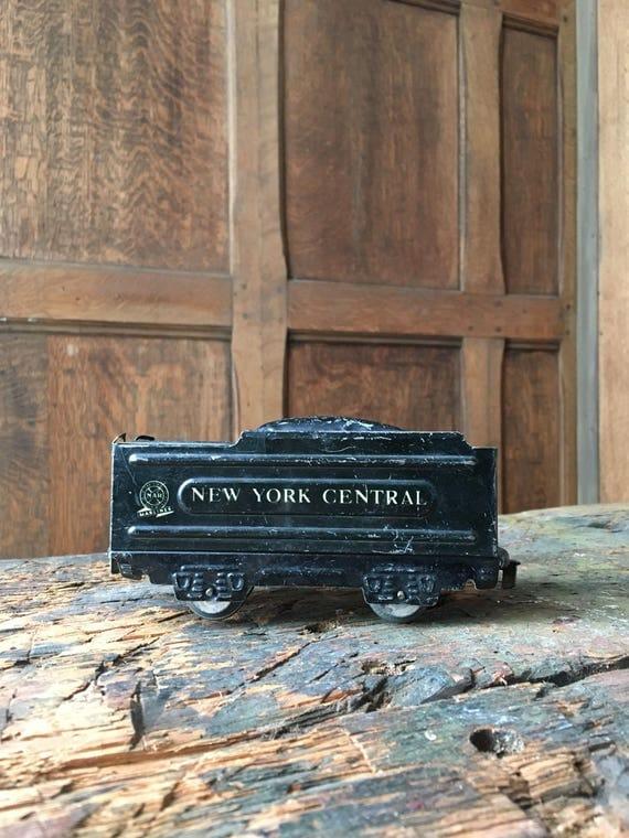 Vintage Coal Carrier Train Car, Marlines Marx Toys, New York Central RxR, Black Train, Kids Room Decor, Train Lover Gift