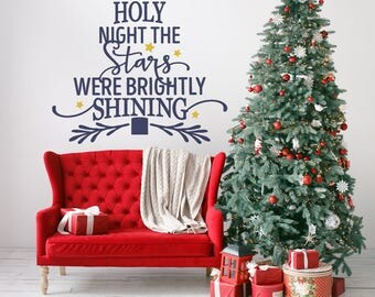 Christmas Wall Decal Etsy - Custom vinyl wall decals christmas