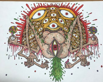 Tasty treats (Original pen and ink and markers)