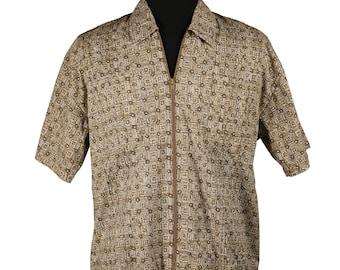 Vintage 1980's does 1960's /Haband Men's Cabana Shirt /  Rat Pack Ocean's 11  / Vegas - Miami Poolside / Cotton Lounge Jacket / Casual Shirt