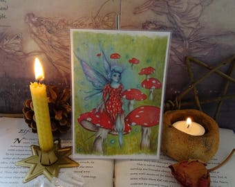 The Faerie Ring ~  Mini Laminated Art Print
