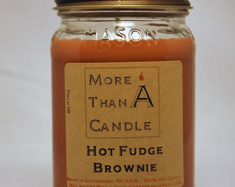 16 oz Hot Fudge Brownie Soy Candle
