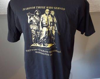 Vintage Vietnam Veterans Memorial T Shirt by Hanes