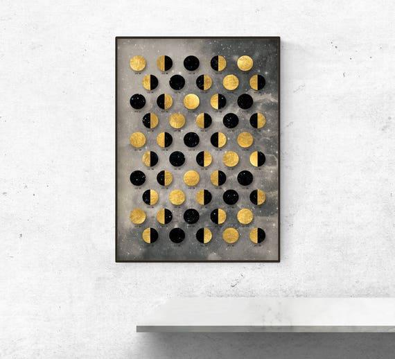 Wall calendar Moon 2018 Dark Moon Calendar 2018 lunar