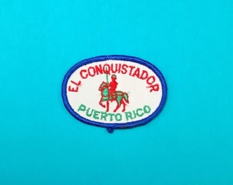 EL CONQUISTADOR (Hotel and Club) Puerto Rico Sew-On Appliqué Embroidered Patch Iron-On Patch